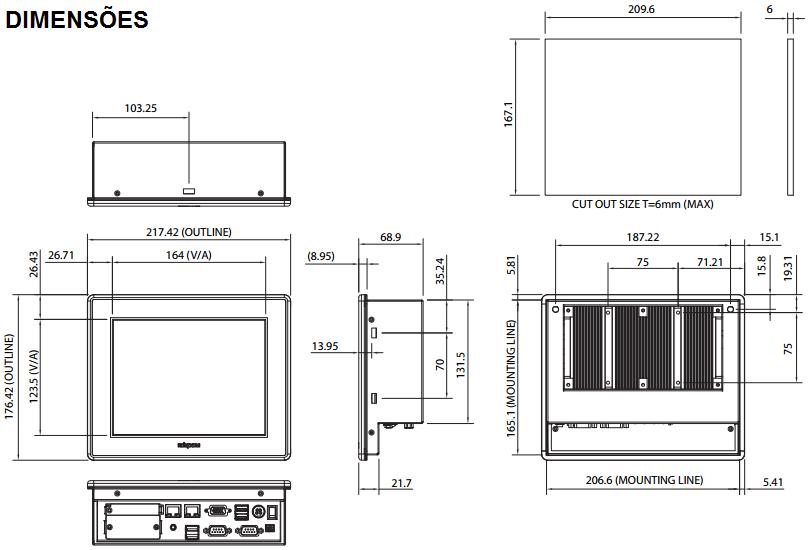 APPC0840T-COMPUTADOR-INDUSTRIAL-FANLESS-TELA-8-TOUCH-DIMENSAO