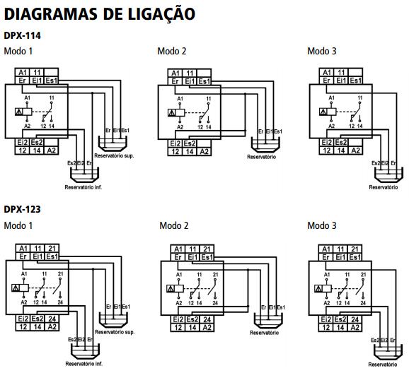 DPX-114-DPX-123-RELE-NIVEL-DIAGRAMA-LIGACAO