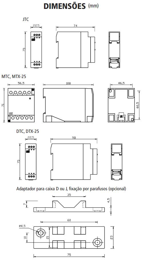 DTC-FTC-JTC-MTC-STC-DTX-MTX-RELE-ELTRONICO-CICLICO-DIMENSAO