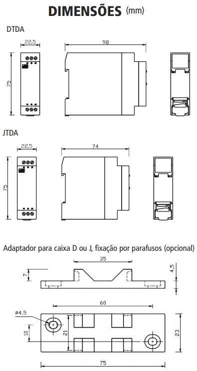 DTDA-JTDA-TEMPORIZADOR-RETARDO-DESENERGIZACAO-DIMENSAO