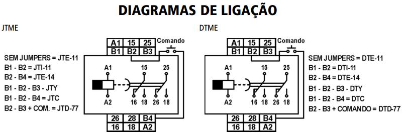 DTME-JTME-TEMPORIZADOR-MULTIFUNCAO-DIAGRAMA-LIGACAO