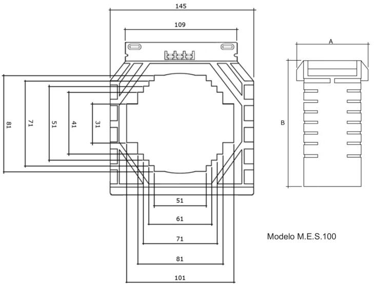 M.E.S-100-TRANSFORMADOR-DE-CORRENTE-DIMENSAO