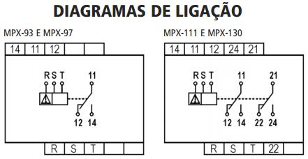 MPX-SUPERVISOR-TRIFASICO-MICROPROCESSADO-DIAGRAMA-LIGACAO
