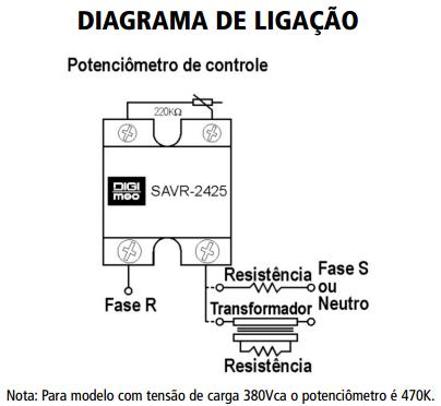 SAVR-RESP-RELE-ESTADO-SOLIDO-DIAGRAMA-LIGACAO