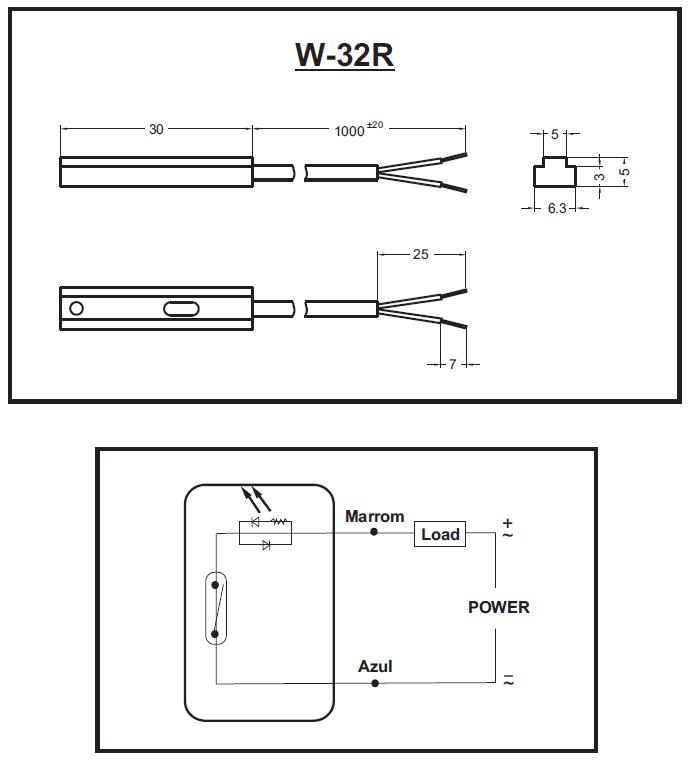 W-32R-SENSOR-DIMENSAO