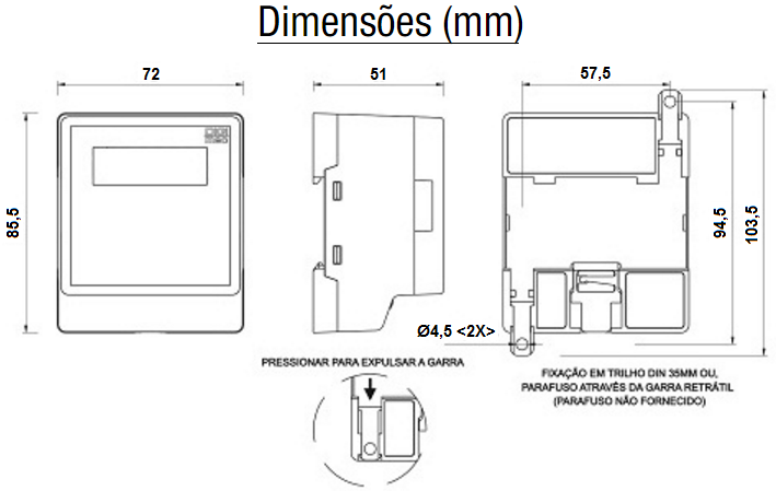 YPSM-SUPERVISOR-MONOFÁSICO-DISPLAY-DIMENSAO