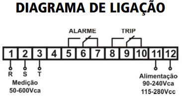 YPST-SUPERVISOR-TRIFASICO-DIAGRAMA-LIGACAO